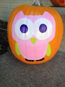 Halloween Yard Decorations Pinterest Awesome Pink Owl Pumpkin Painting Holiday Fun In 2019