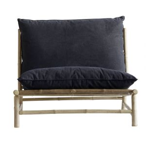 Hanging Outdoor Bed Luxury Bamboo Lounge Chair W Cushions W100x87xh45 80cm