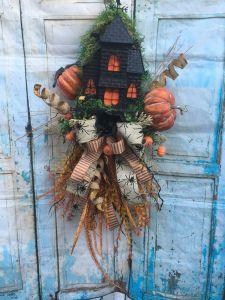 Haunted House Ideas Inspirational Haunted House Halloween Swag Pumpkin Swag Halloween Decor