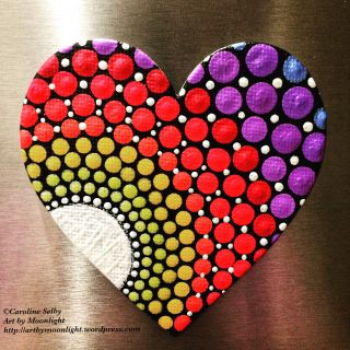 Heart Shaped Art Projects Fresh Heart Shaped Dot Mandala Magnet