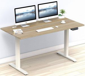 Hidden Computer Desk Beautiful Shw 55 Inch Electric Height Adjustable Puter Desk 55 X 28 Inches Oak