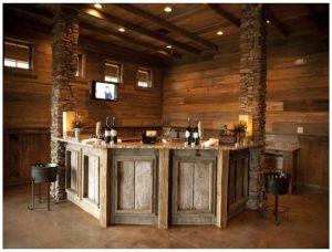 Home Bar Design Awesome Corner Pallet Bar Mancave Home Ideas
