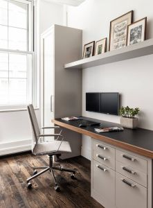 Home Office Small Space Ideas Best Of Build In Desk Space with Cabinet and Draw Storage