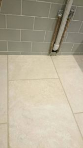 How to Clean Bathroom Tile Floor Elegant Our New Bathroom topps Tiles astrea Sage Crackle Metro with