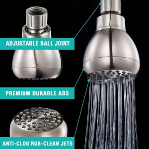 """How to Clean Clogged Shower Head Inspirational Anza High Pressure Shower Head 3"""" Overhead Showerhead Swivel Ball Joint Rub Clean Jets Teflon Tape Bathroom Fixed Shower Heads Replacement for"""