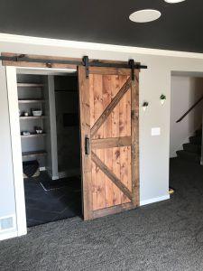 Ideas for Finishing Basement Awesome Rustic Modern Basement Finish Basement Bathroom Door