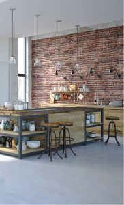 Industrial Kitchens at Home Beautiful Industrial Kitchen Design with An Amazing Red Brick Veneer