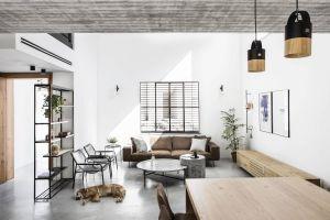 Industrial Modern Interior Design Luxury Minimal Modern Living Room Concrete Wood Metal Interior