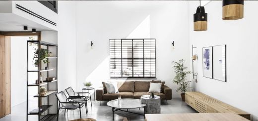 Industrial Modern Interior Design Luxury Minimal Modern Living Room Concrete Wood Metal Interior