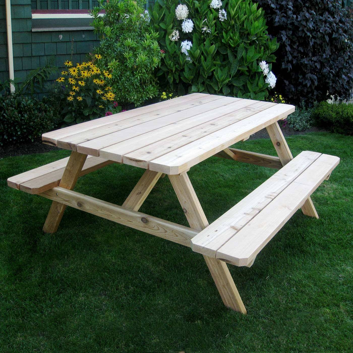 bench table best of outdoor living today pic65 cedar picnic table of bench table
