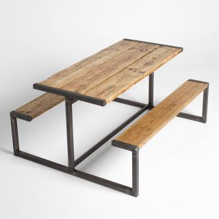 Industrial Picnic Tables Beautiful Industrial Style Pub Bench Picnic Table In 2019