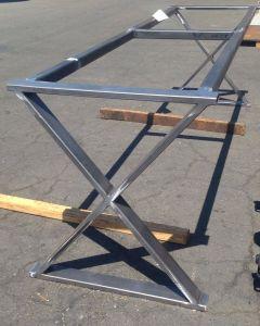 Industrial Steel Table Lovely Cross Leg Metal Table Base