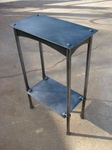 Industrial Steel Table Luxury forged Table Hand forged Blacksmithing