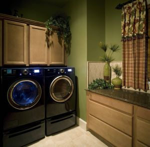 Installing Wall Cabinets In Laundry Room Beautiful A Traditional Style Laundry Room with Dark Granite