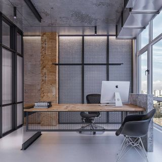 Interior Design Of Office Space Unique Industrial Office Studio On Behance