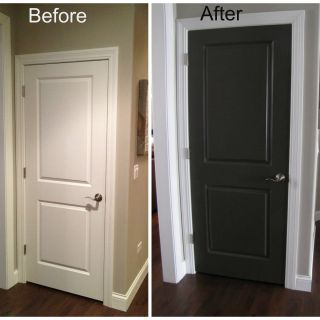 Interior Doors Painted Black Lovely Black Interior Doors before and after