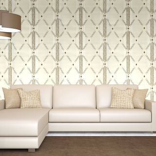 Interior Elegant Interior Xpression Paper Geometric Patterns Wallpapers Cream