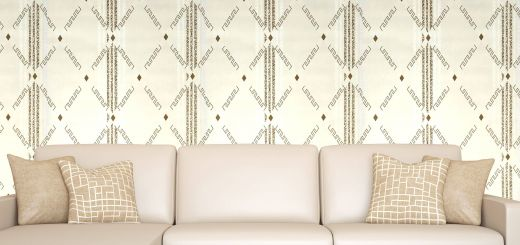 Interior Elegant Interior Xpression Paper Geometric Patterns Wallpapers Cream