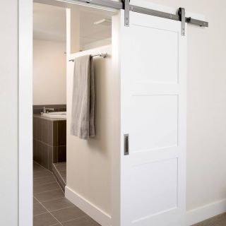 Interior Sliding Barn Doors Inspirational This Contemporary Sliding Interior Barn Door Blends