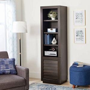 L Shaped Bookcase New Better Homes & Gardens Ellis Shutter tower Bookcase and Cabinet Dark Oak Finish Walmart