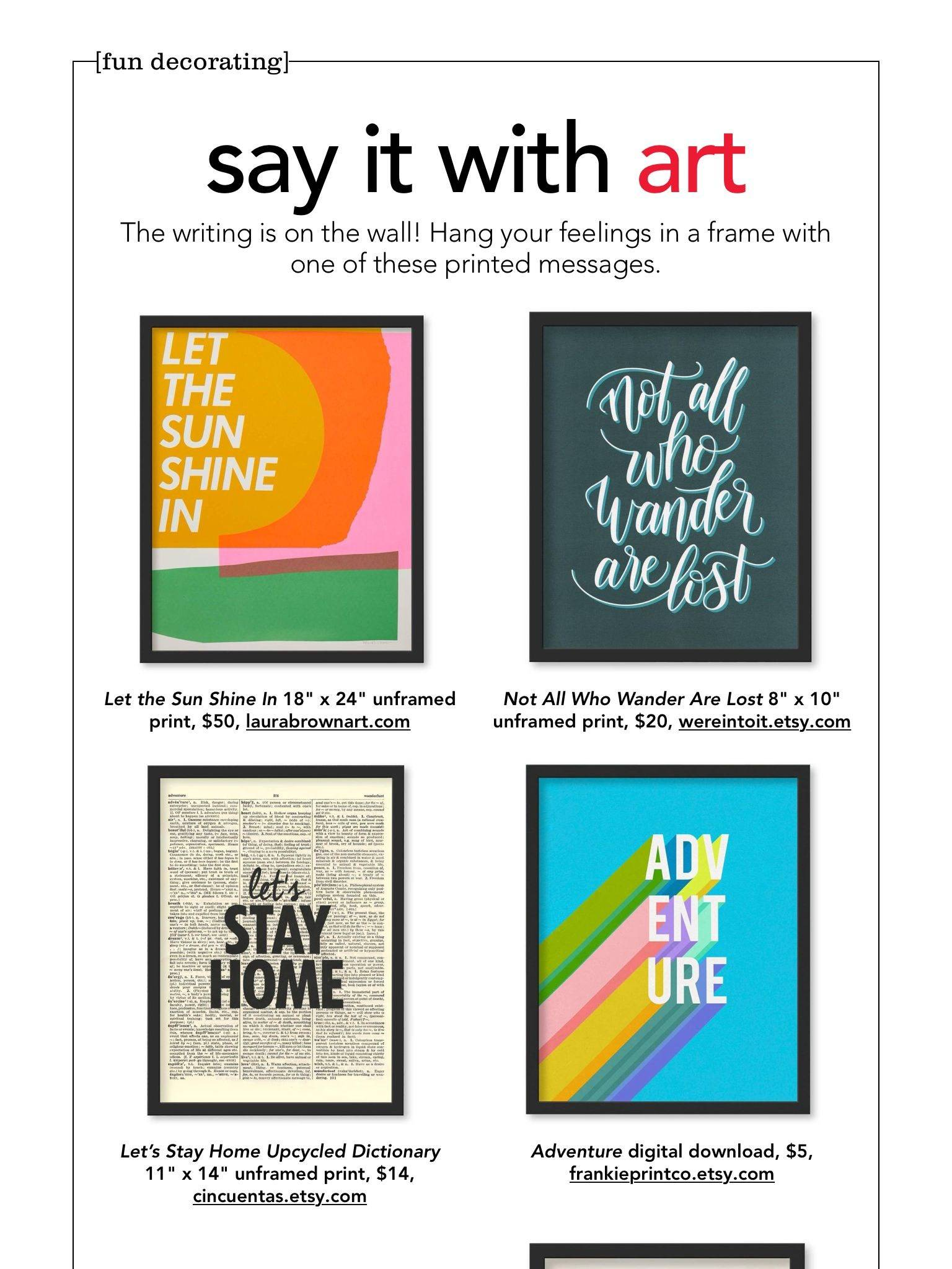 hgtv magazine subscription say it with artquot from hgtv magazine november 2018 read it on the of hgtv magazine subscription