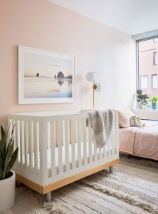 Light Pink and Mint Green Bedroom Fresh Millennial Pink Nursery tour Plants for Children S Rooms