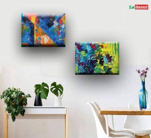Living Room Wall Decor Fresh Ledecor Canvas Wall Decor Green Painting Set 2 Canvas Painting with Frame