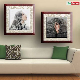 Living Room Wall Decor Lovely Ledecor Canvas Painting Wall Decor Tree Girl Set 2 Canvas