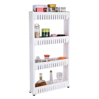 Lotion Storage Fresh Collapsible 4 Layer Slim Storage organiser for Kitchen Rack Bathroom and Bedroom