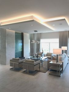 Lounge Ceiling Designs Elegant Above the Dining Room Arch Interior In 2019