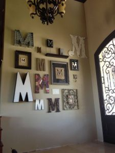 Love Metal Wall Decor Luxury Monogram Wall for the Home