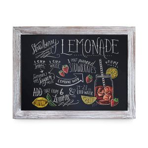 """Magnetic Board Wall Decor Inspirational Rustic Whitewashed Magnetic Wall Chalkboard Size 18"""" X 24"""" Framed Chalkboard Decorative Magnet Board Great for Kitchen Decor Weddings"""