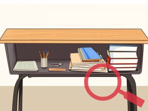 Make Your Desk Into A Standing Desk Awesome How to organize Your School Desk 9 Steps with
