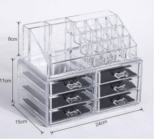 Makeup Storage Containers Unique Avmart Cosmetic organizer Makeup Storage Box Lipstick Holder Stand 6 Drawer