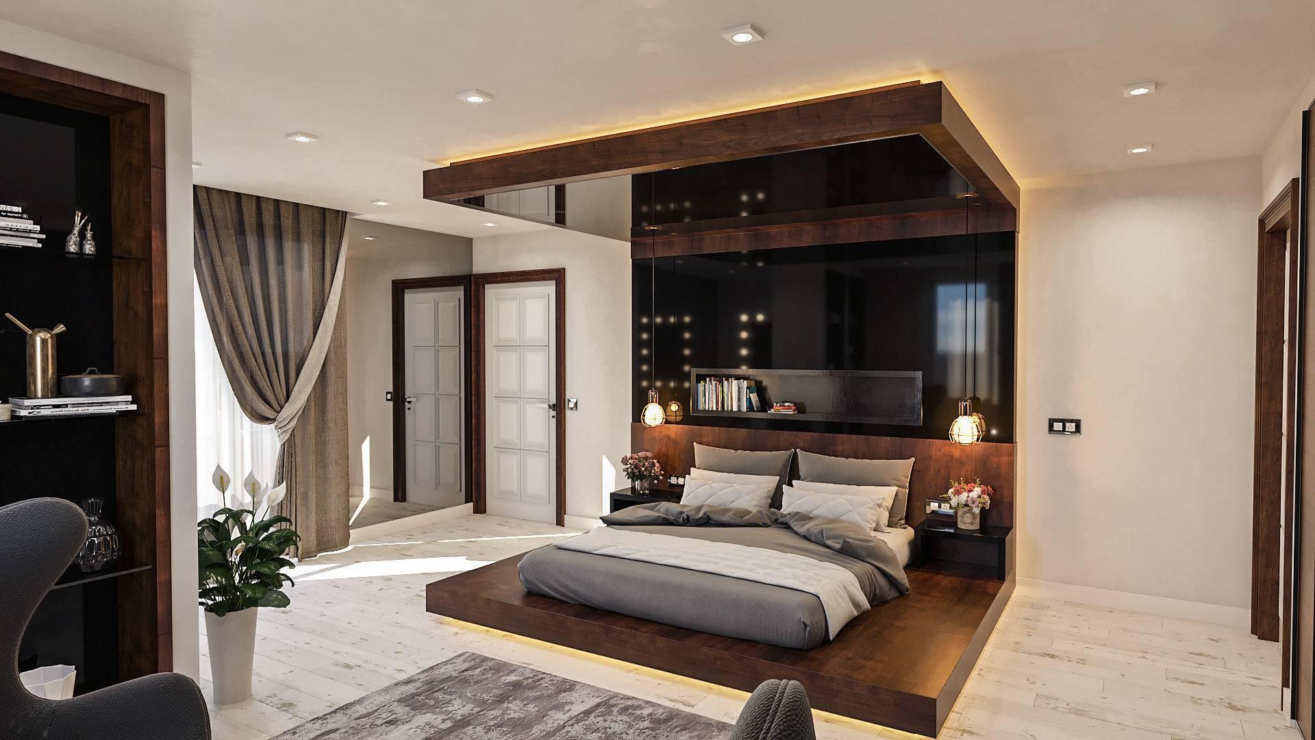 modern master bedroom 3d model max bip