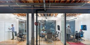 Mezzanine Structures Lovely Buzzell Building Modern Interior Of Prototyping Studio with