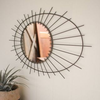 Mirror Art Wall Decor Elegant Metal Sunburst Mirror Products