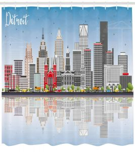 Modern Bathtub Shower Lovely Amazon Ambesonne Detroit Decor Shower Curtain Detroit