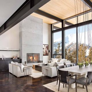 Modern Concrete Floors New Modern Mountain Home Boasts Chic and Stylish Living In