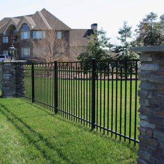 Modern Fence Designs Metal Beautiful Beautiful Metal Estate Fencing with Stone Columns In