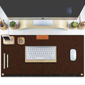 Modern Home Office Luxury Tizum 2 Pockets Felt Desk Mat for Fice & Gaming Mouse Pad