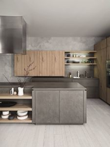 Modern Kitchen Colors Best Of Fitted Kitchen with island without Handles Cloe