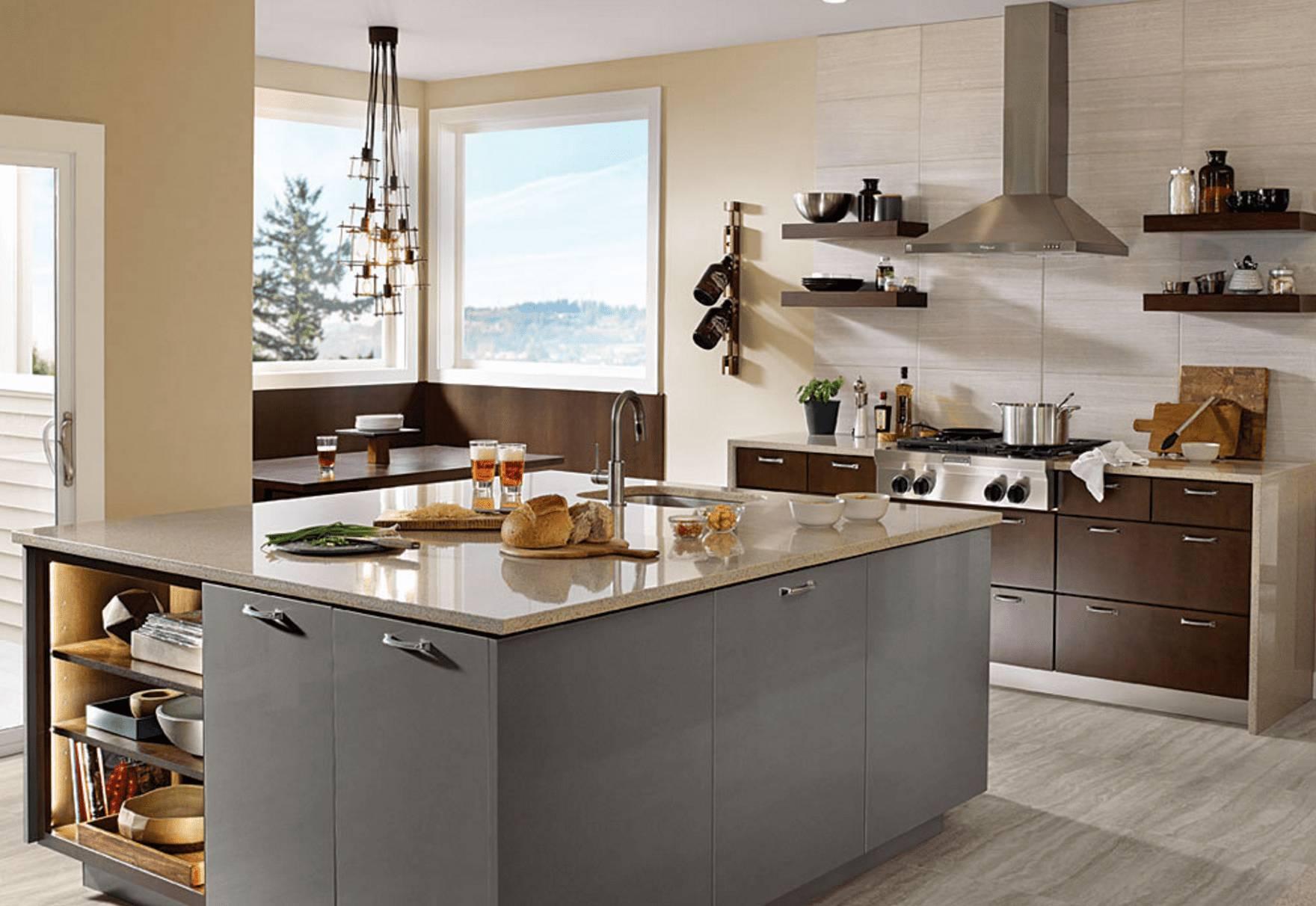 KraftMaid Gray Modern Kitchen df75f9b5805c2044f5d