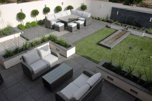Modern Landscape Design Unique Contemporary Garden with Granite Paving and Posite