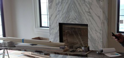 Modern Stone Fireplace Unique Contemporary Slab Stone Fireplace Calacutta Carrara Marble