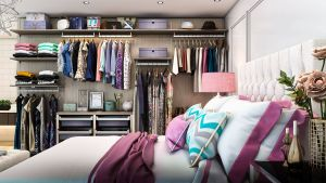 Modern Walk In Closets Best Of Finesse Modern Floated Closet System On the Wall Of A