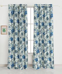 Modern Window Shades Lovely Grand Opal Set Of 2 Window Blackout Room Darkening Eyelet Polyester Curtains Blue