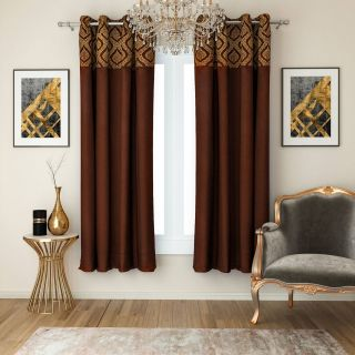 Modern Window Shades Unique Swayam Set Of 2 Window Blackout Room Darkening Eyelet Polyester Curtains Black