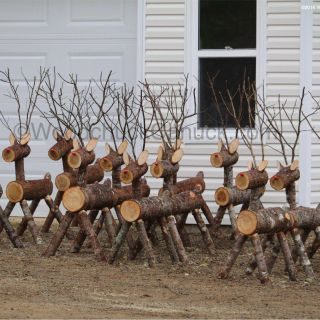 Moose Christmas Yard Decorations Awesome Image Result for Log Reindeer Yard Decorations