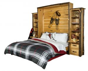Murphy Bed sofa Combo Awesome Rustic Hickory Queen Murphy Bed Amish Furniture